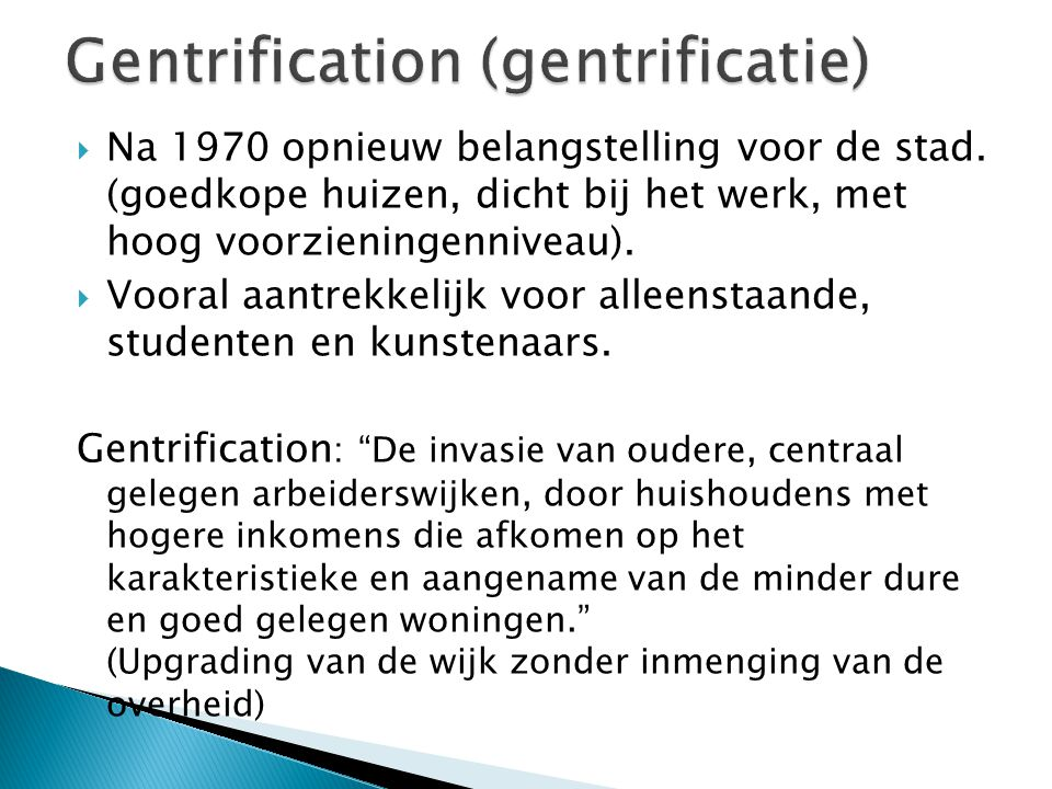 Gentrification (gentrificatie)