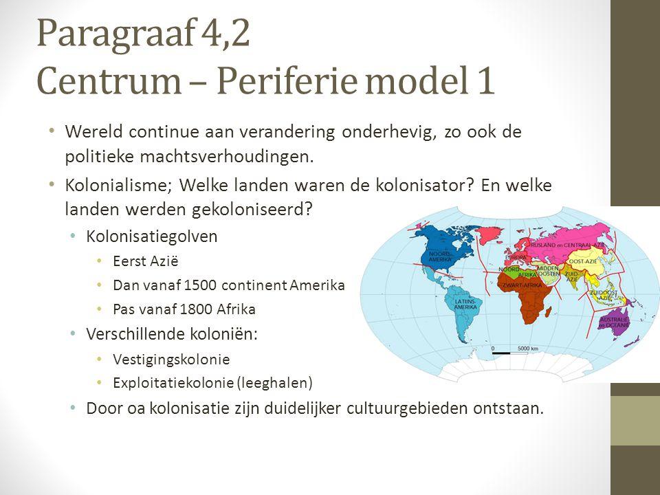 Paragraaf 4,2 Centrum – Periferie model 1