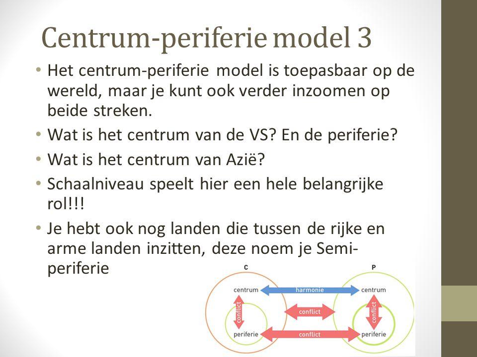 Centrum-periferie model 3