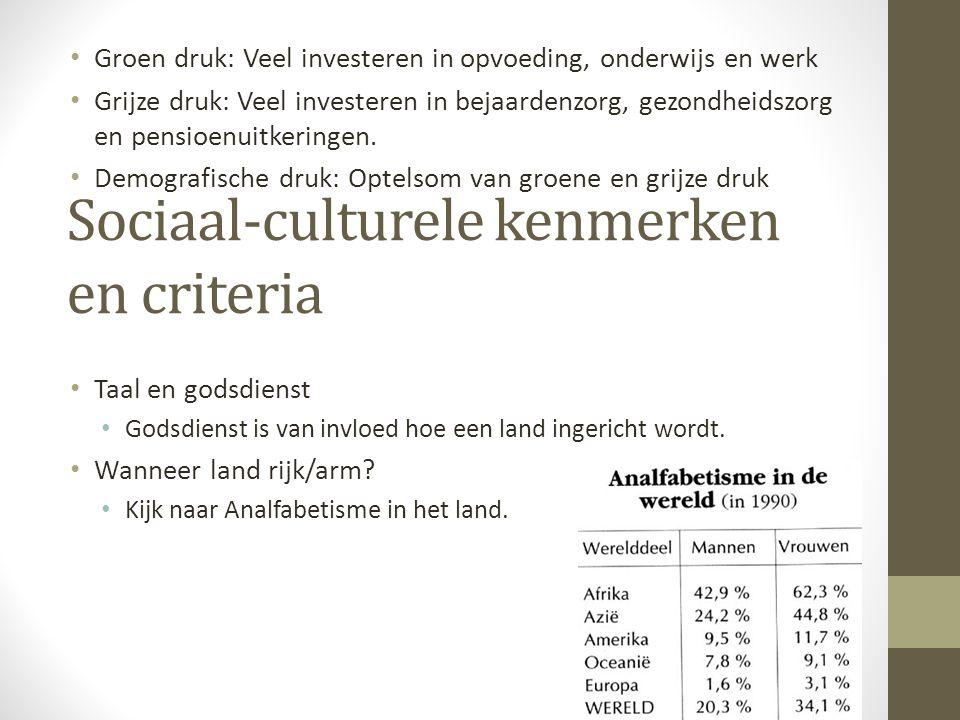 Sociaal-culturele kenmerken en criteria