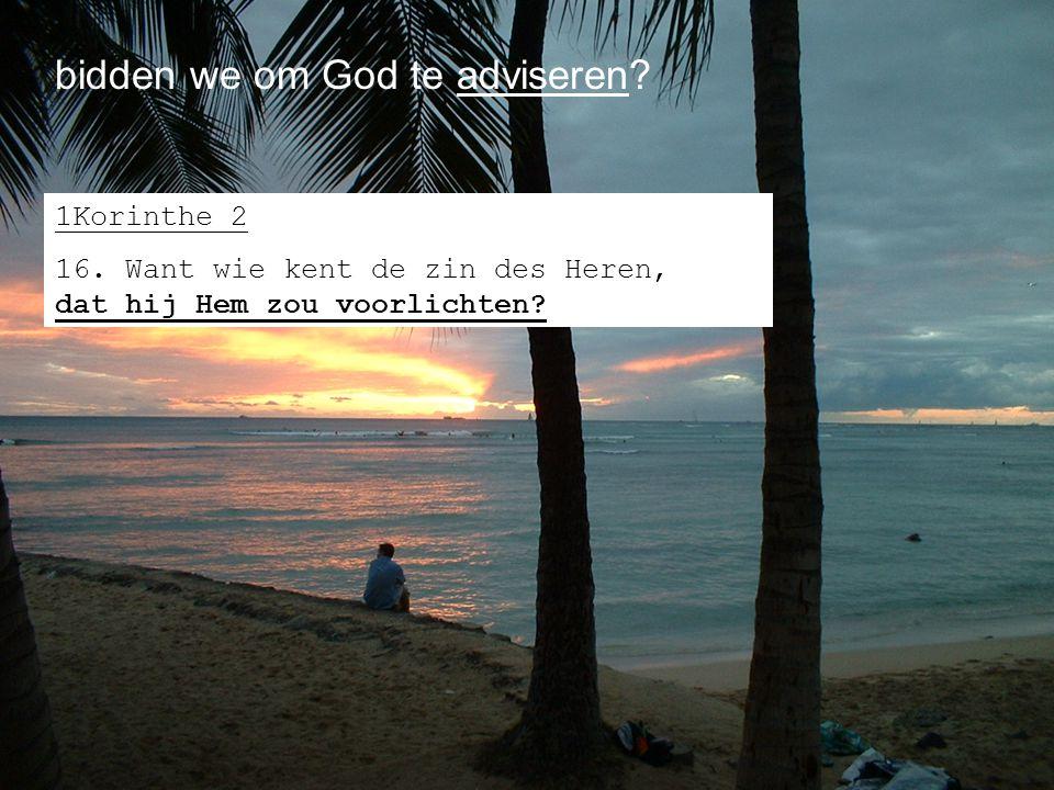 bidden we om God te adviseren