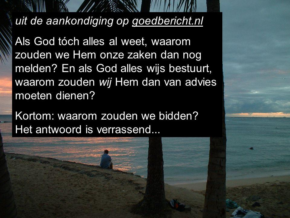 uit de aankondiging op goedbericht.nl