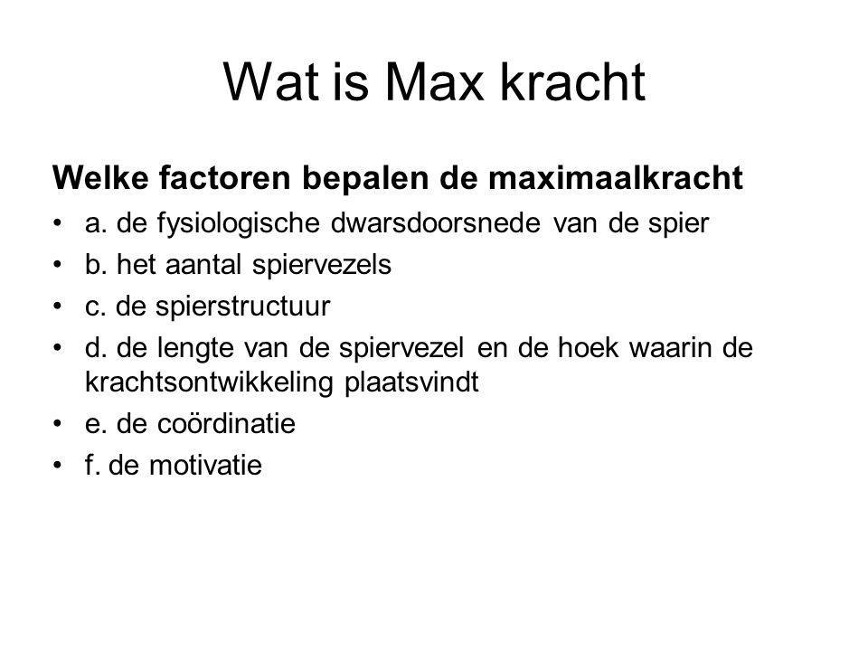 Wat is Max kracht Welke factoren bepalen de maximaalkracht