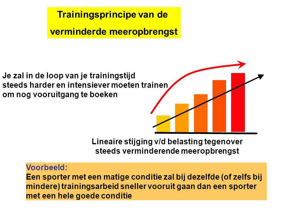 Trainingsprincipe van de verminderde meeropbrengst