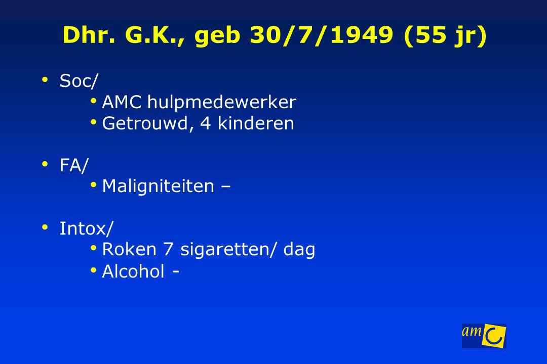 Dhr. G.K., geb 30/7/1949 (55 jr) Soc/ AMC hulpmedewerker