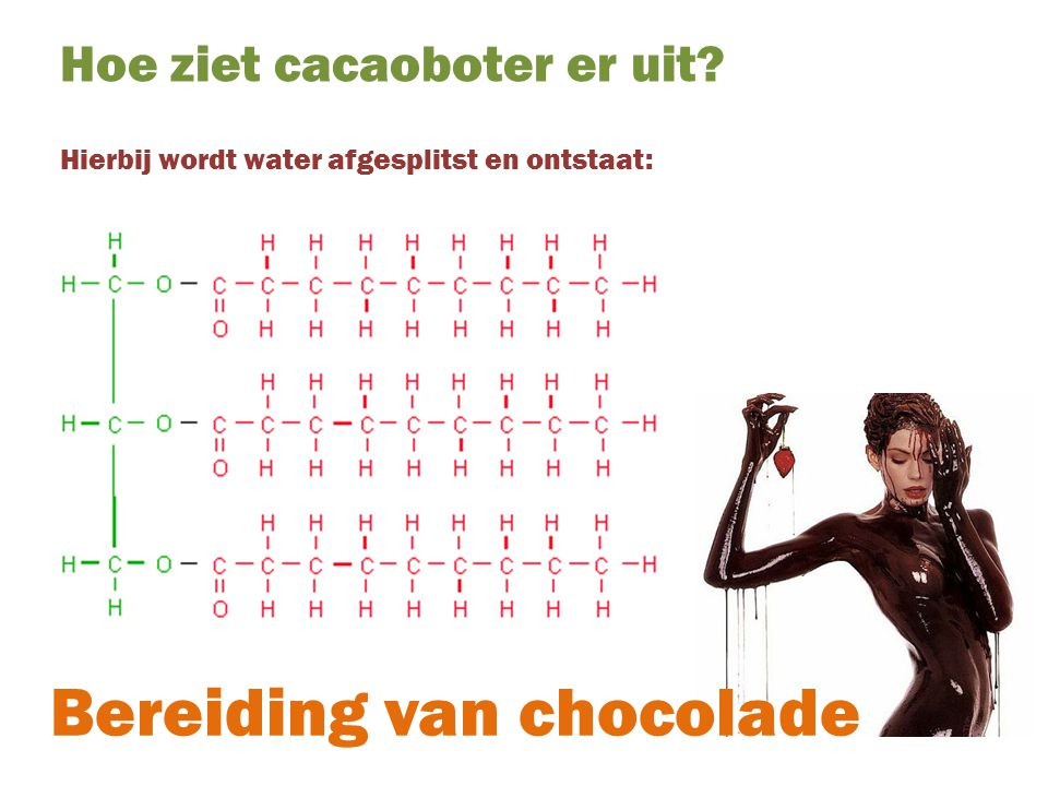 Bereiding van chocolade