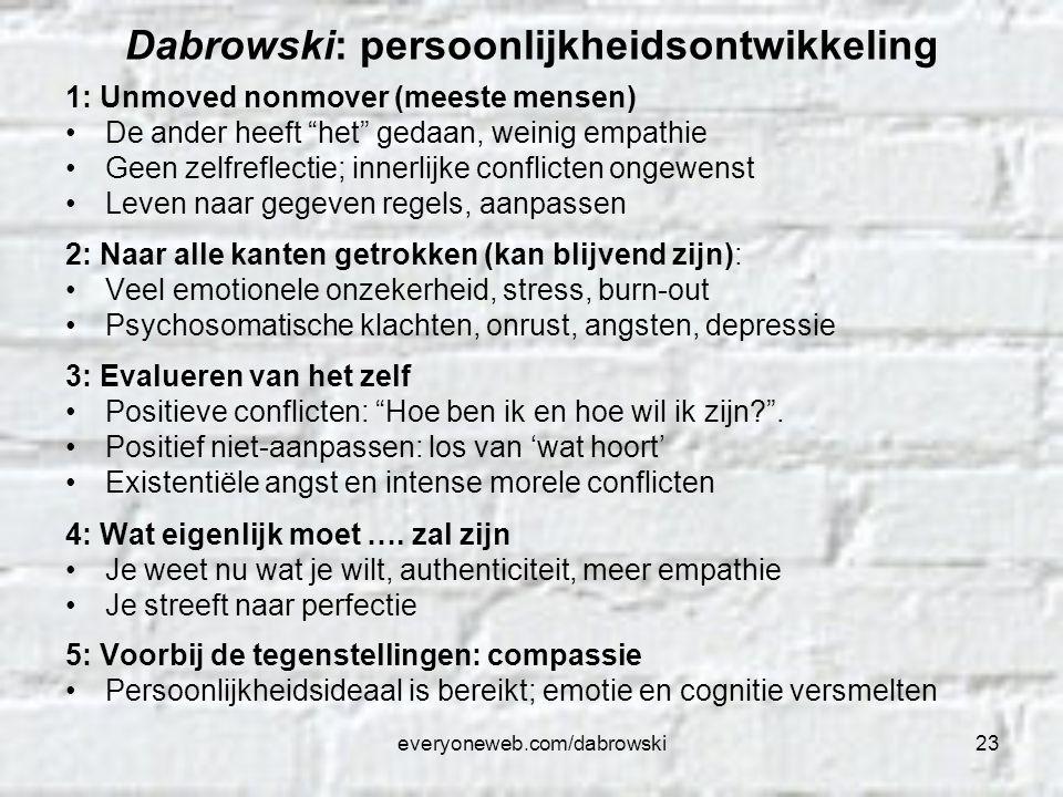 Dabrowski: persoonlijkheidsontwikkeling