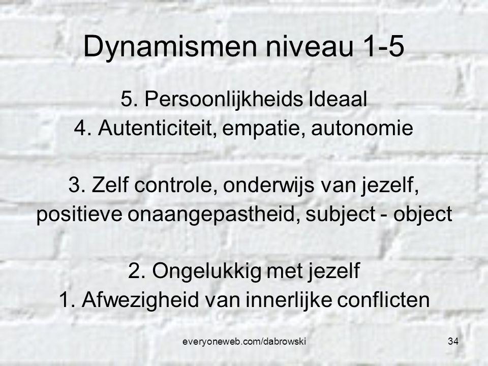 Dynamismen niveau 1-5 5. Persoonlijkheids Ideaal