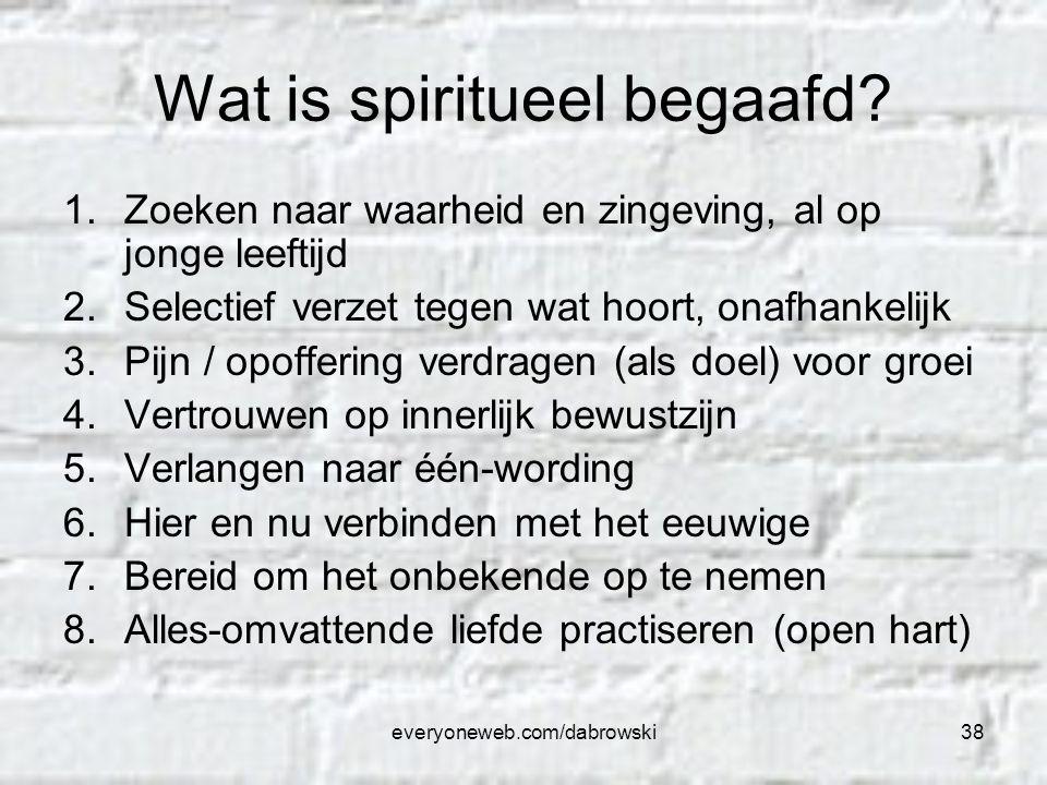 Wat is spiritueel begaafd