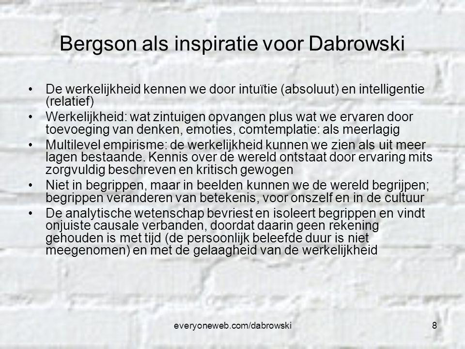 Bergson als inspiratie voor Dabrowski