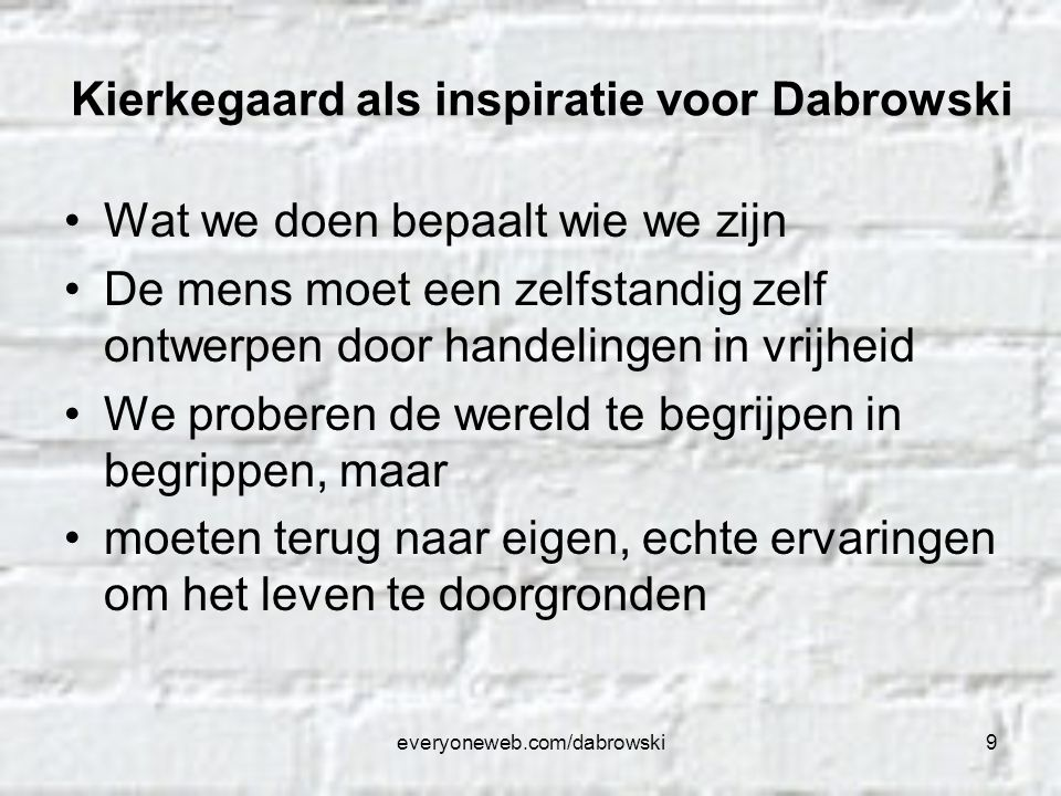 Kierkegaard als inspiratie voor Dabrowski