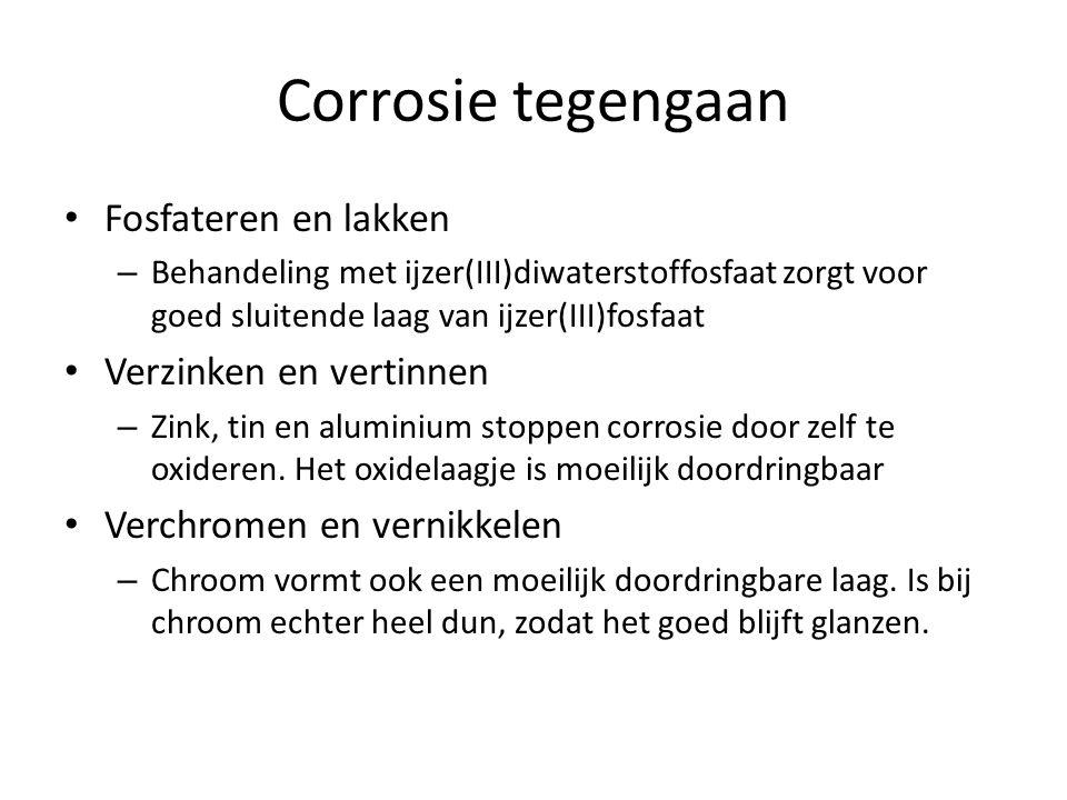 Corrosie tegengaan Fosfateren en lakken Verzinken en vertinnen