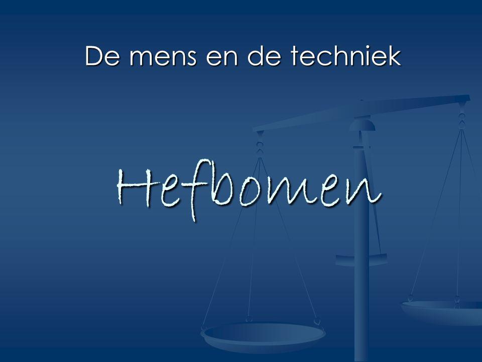 De mens en de techniek Hefbomen