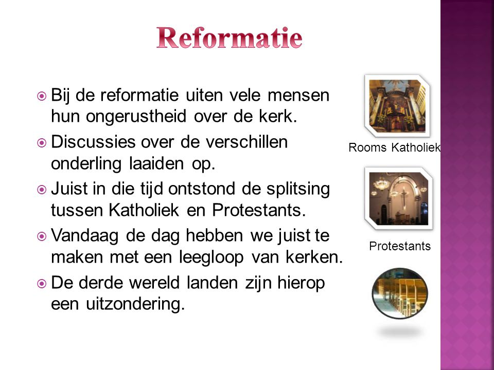 Reformatie Protestants