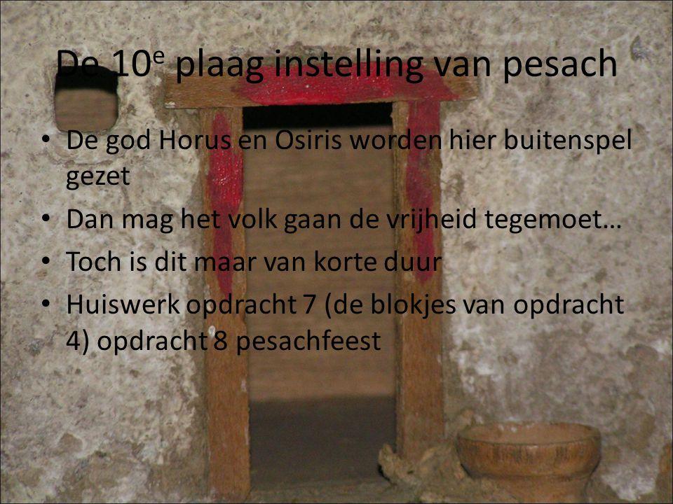 De 10e plaag instelling van pesach