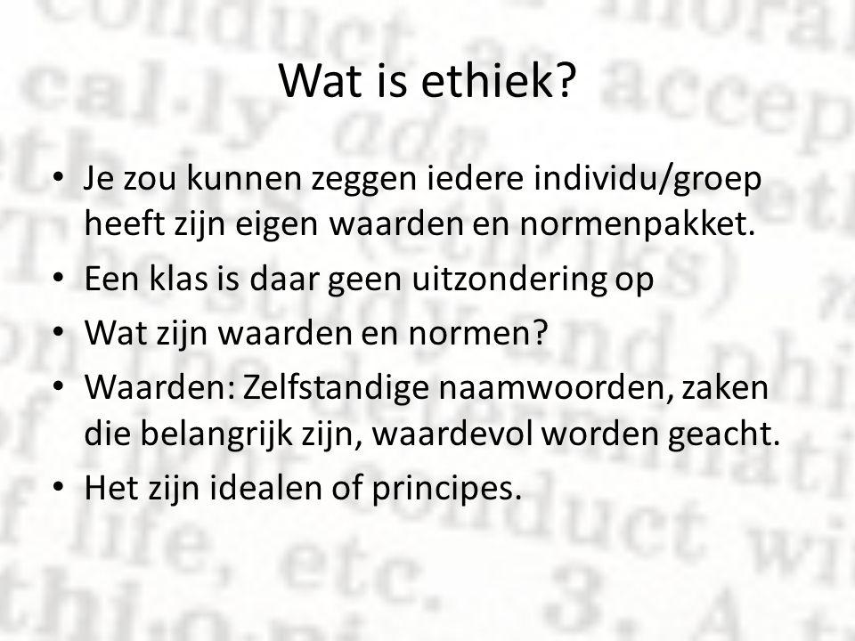 Wat is ethiek Je zou kunnen zeggen iedere individu/groep heeft zijn eigen waarden en normenpakket.