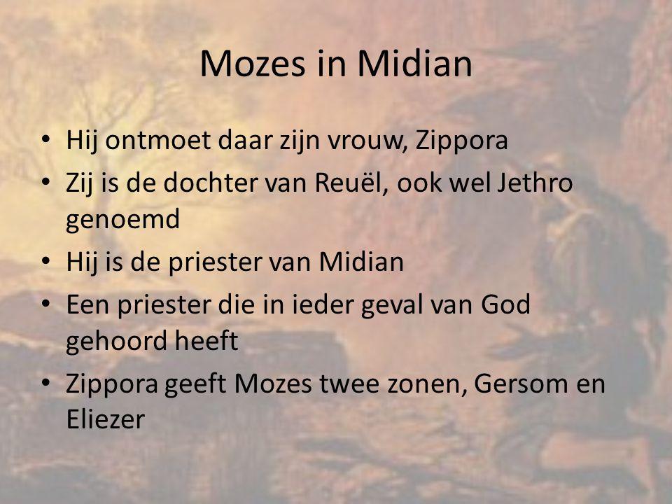 Mozes in Midian Hij ontmoet daar zijn vrouw, Zippora