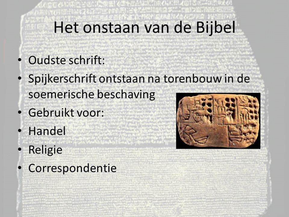 Het onstaan van de Bijbel