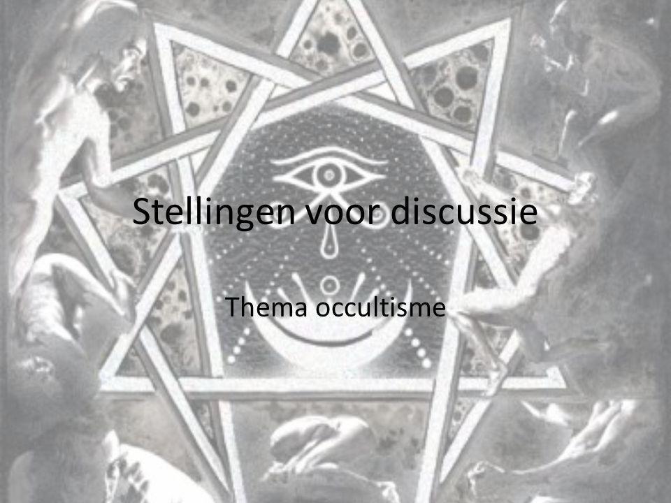 Stellingen voor discussie