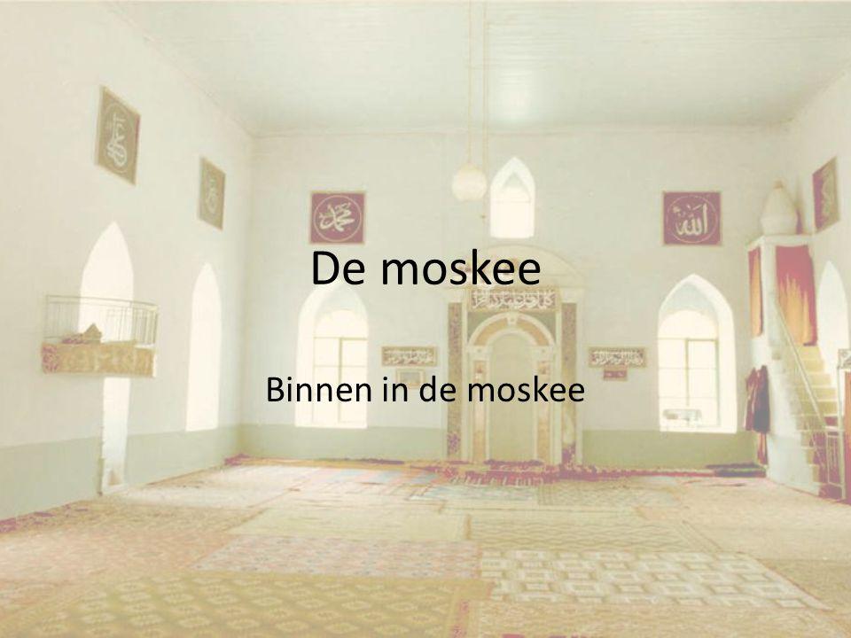 De moskee Binnen in de moskee