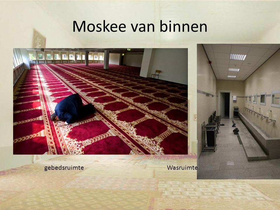 Moskee van binnen gebedsruimte Wasruimte
