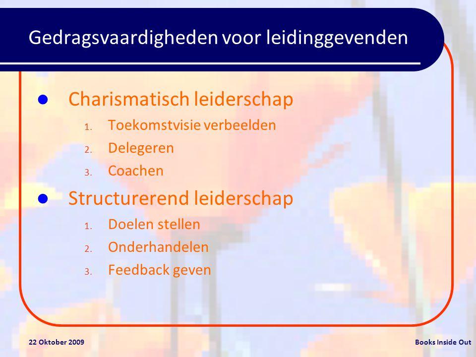 Gedragsvaardigheden voor leidinggevenden