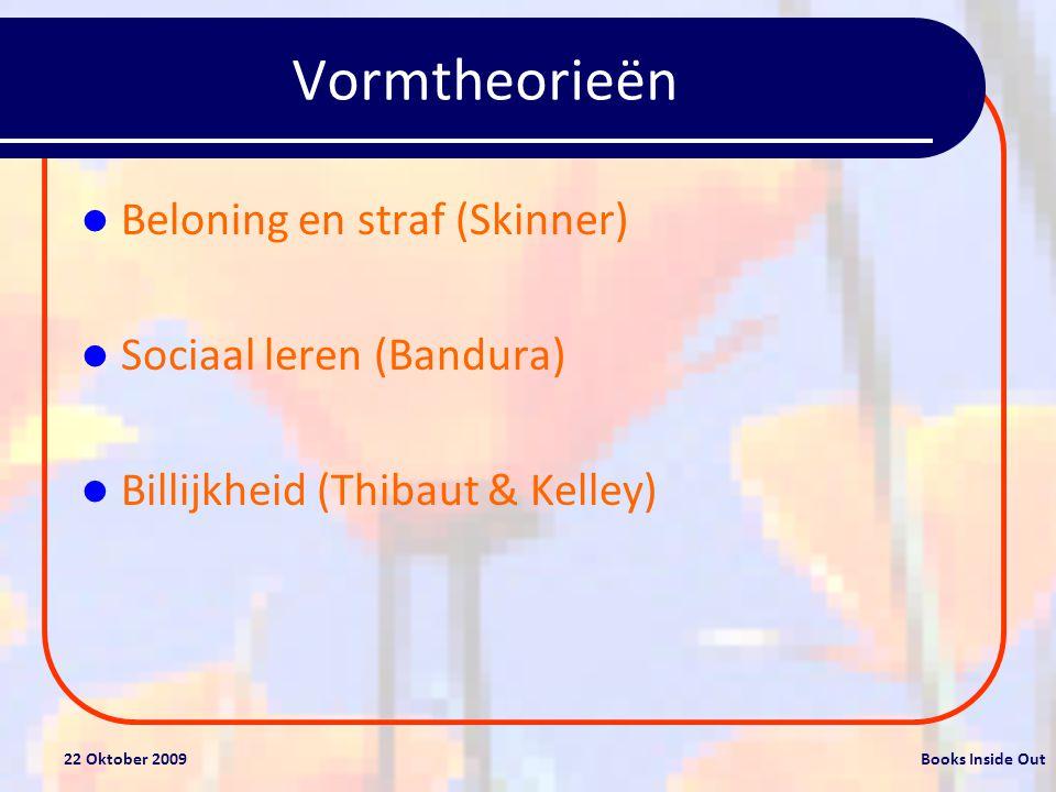 Vormtheorieën Beloning en straf (Skinner) Sociaal leren (Bandura)