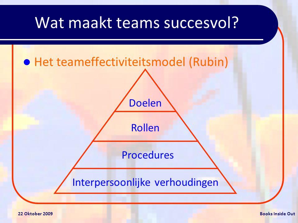 Wat maakt teams succesvol