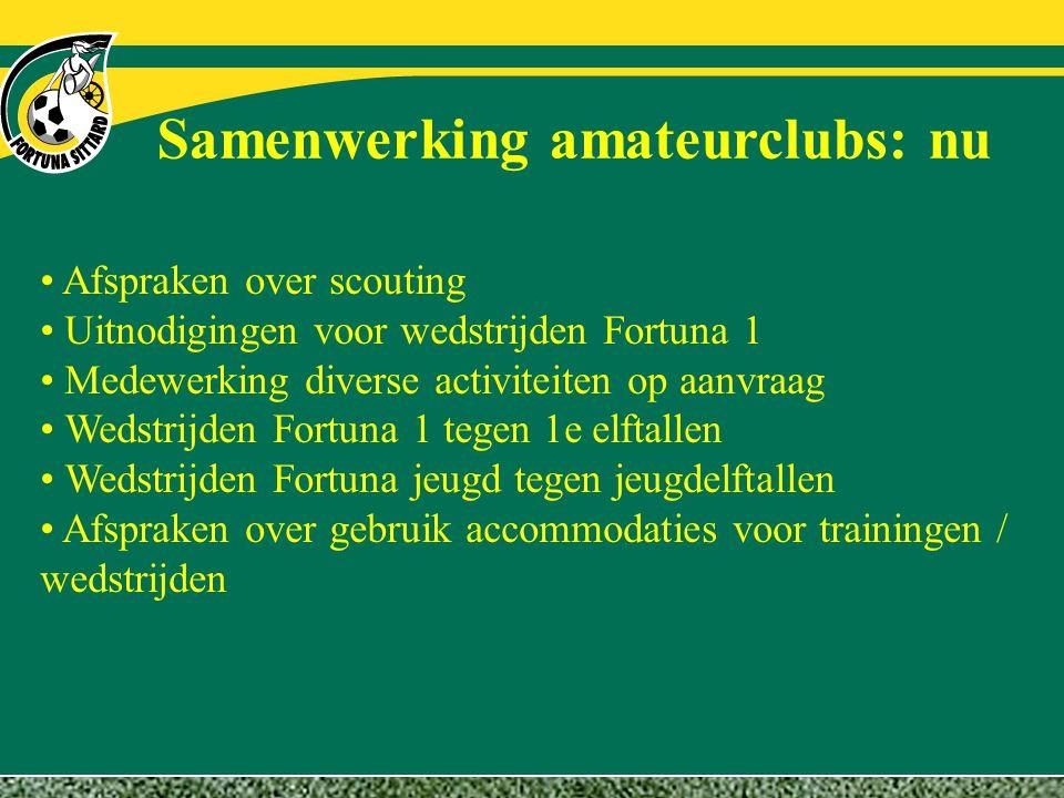 Samenwerking amateurclubs: nu