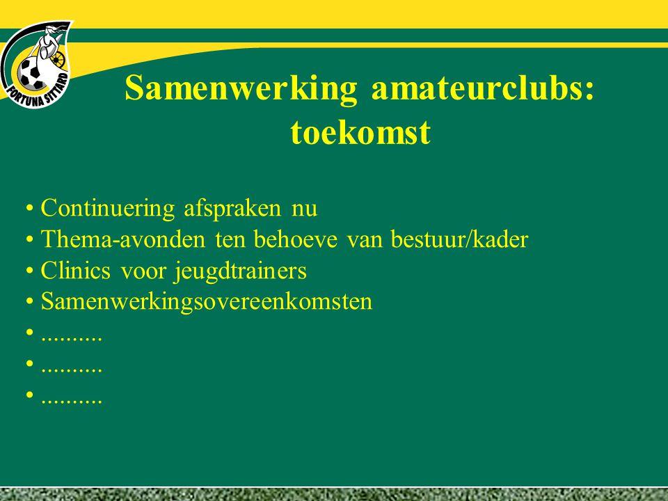 Samenwerking amateurclubs: toekomst