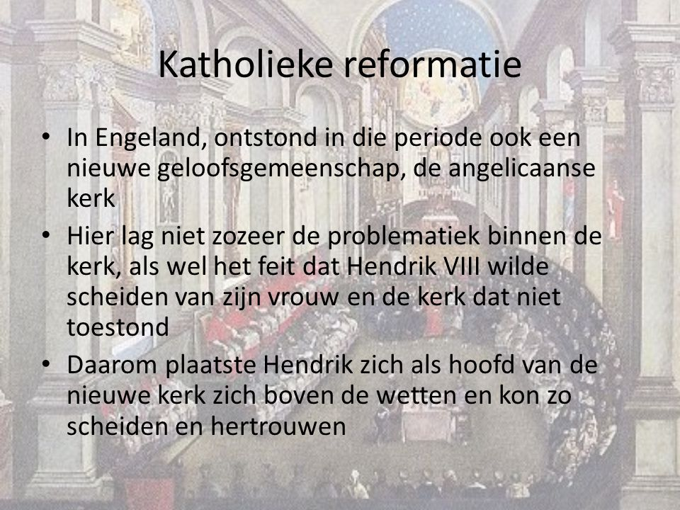 Katholieke reformatie