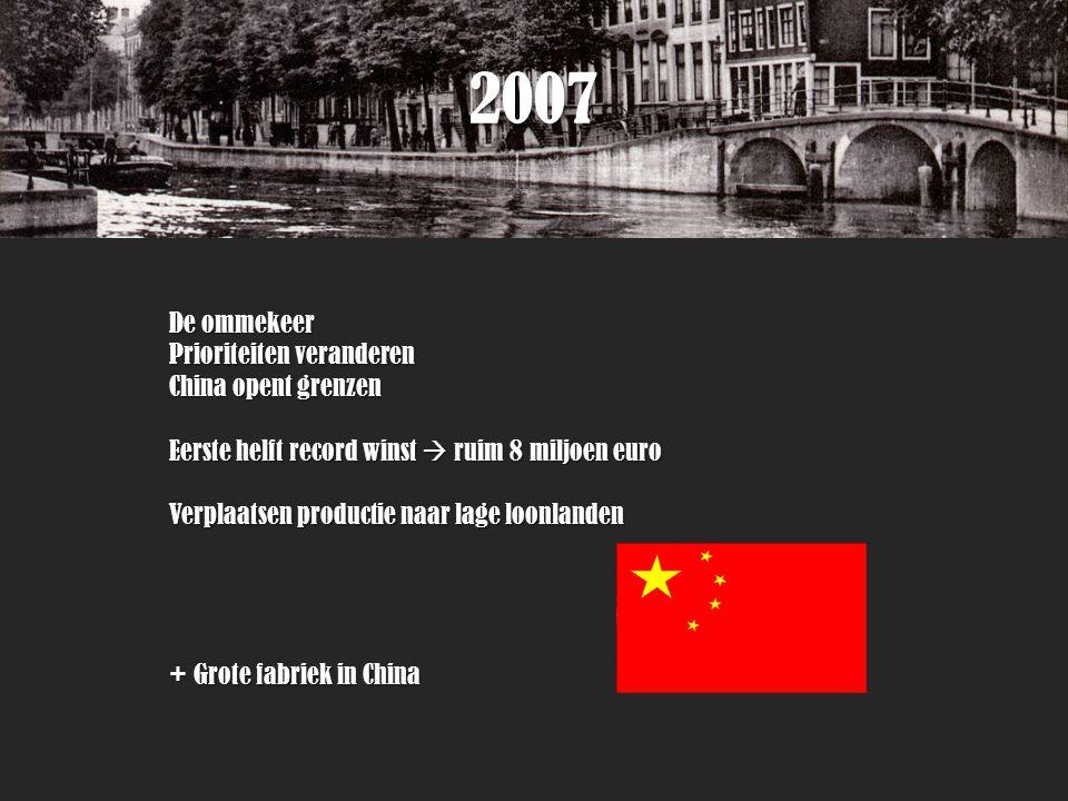 2007 De ommekeer Prioriteiten veranderen China opent grenzen