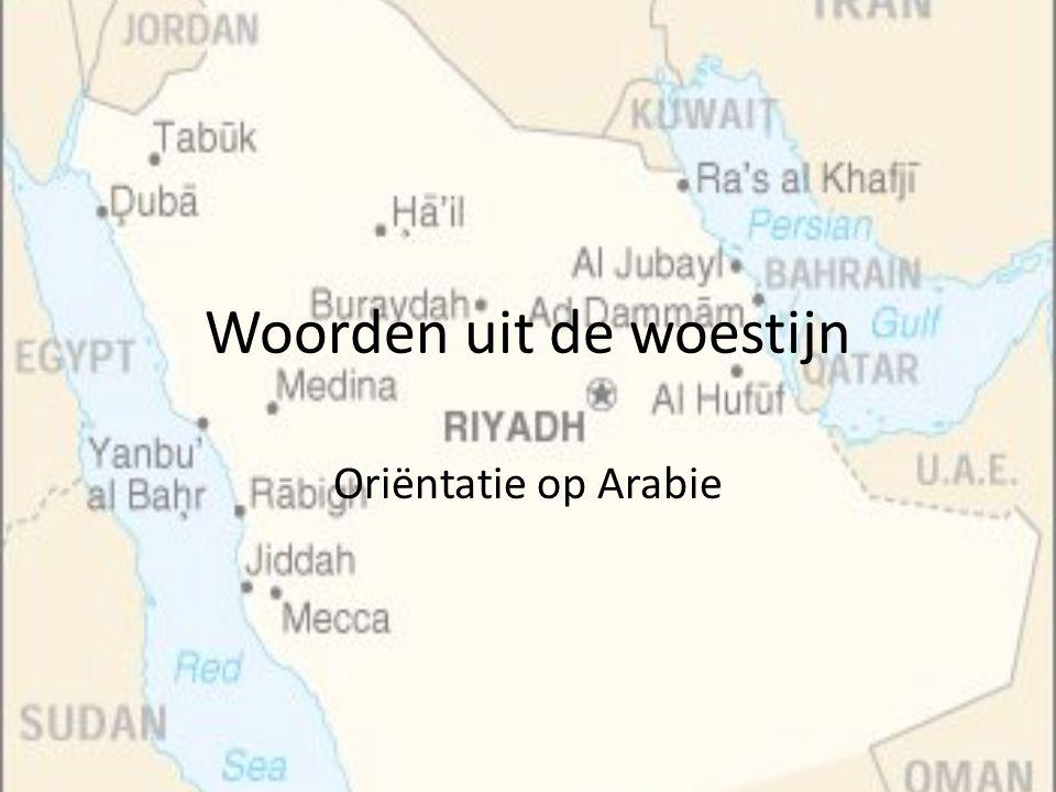 Woorden uit de woestijn