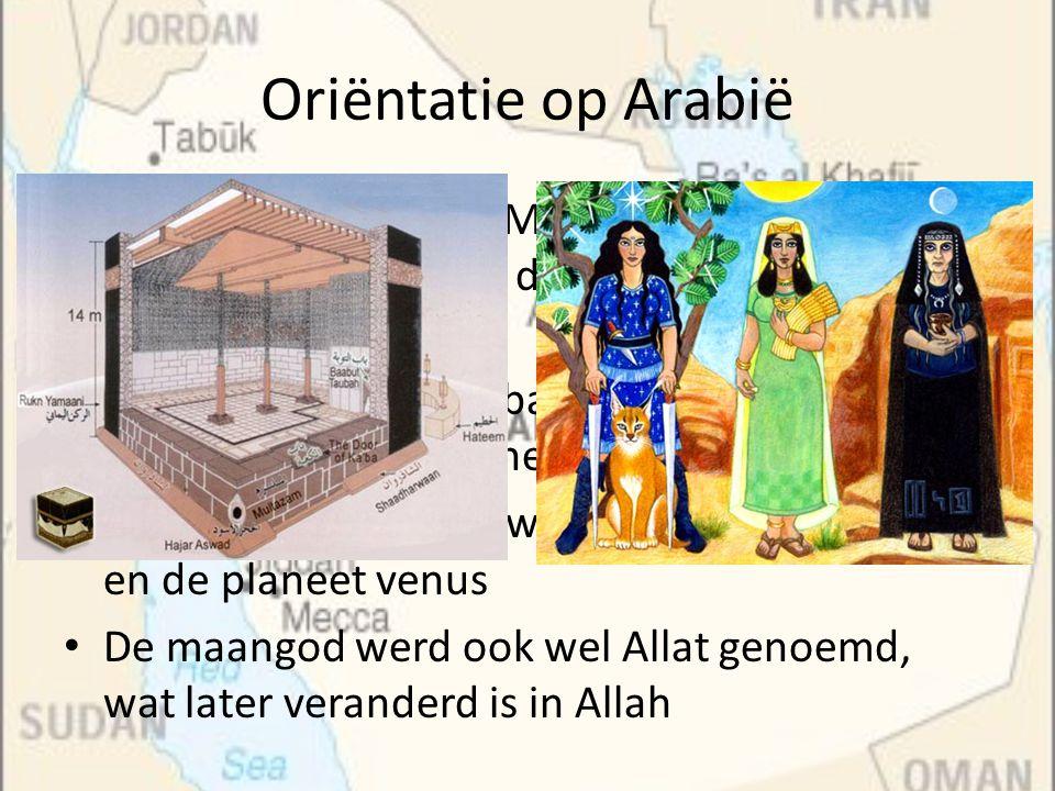 Oriëntatie op Arabië De steden Mekka en Medina waren in die tijd grote handelssteden, die langs belangrijke routes lagen.