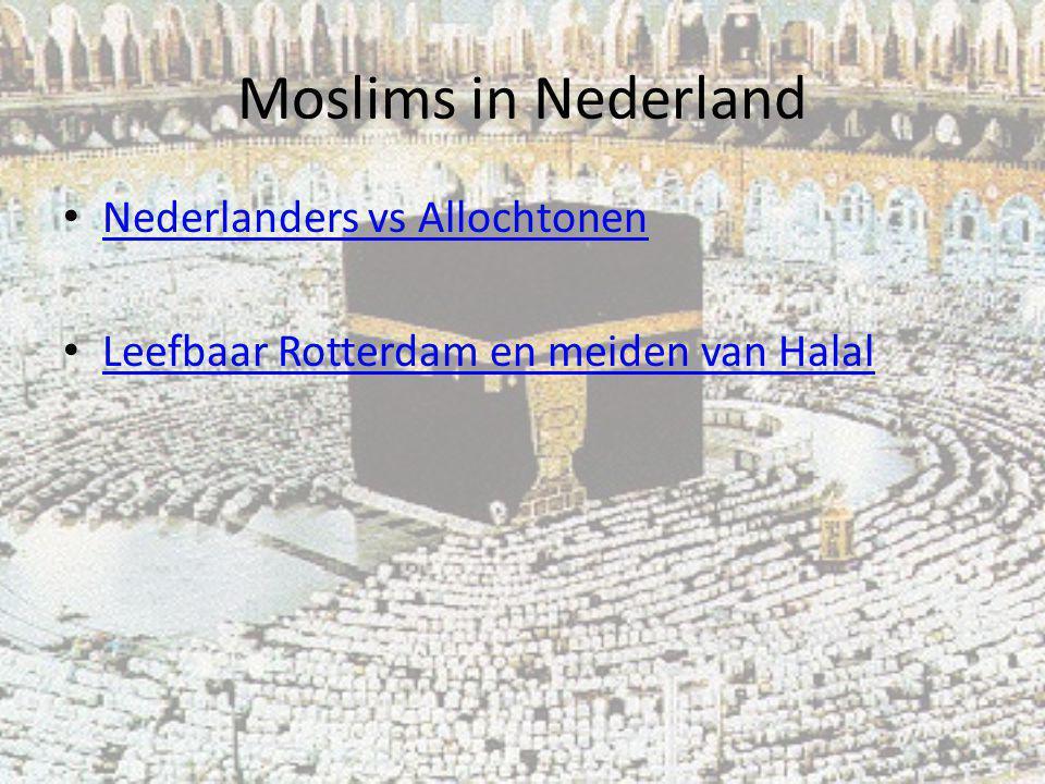 Moslims in Nederland Nederlanders vs Allochtonen
