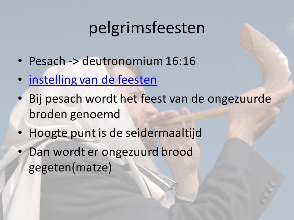 pelgrimsfeesten Pesach -> deutronomium 16:16