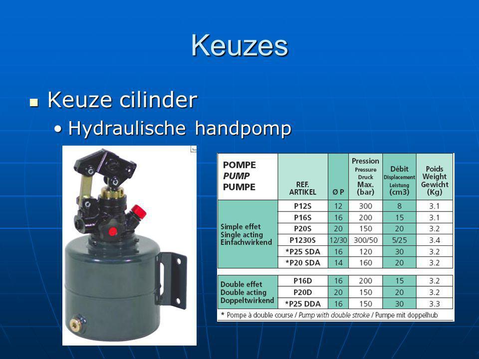 Keuzes Keuze cilinder Hydraulische handpomp William 9