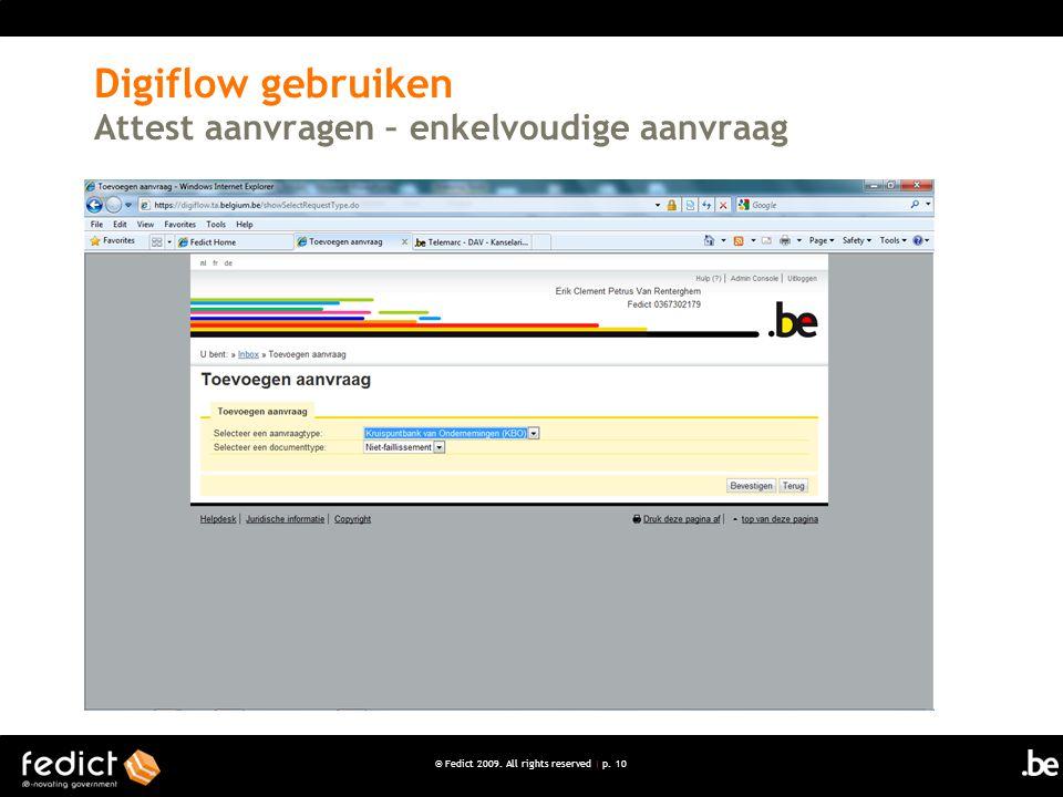 Digiflow gebruiken Attest aanvragen – enkelvoudige aanvraag