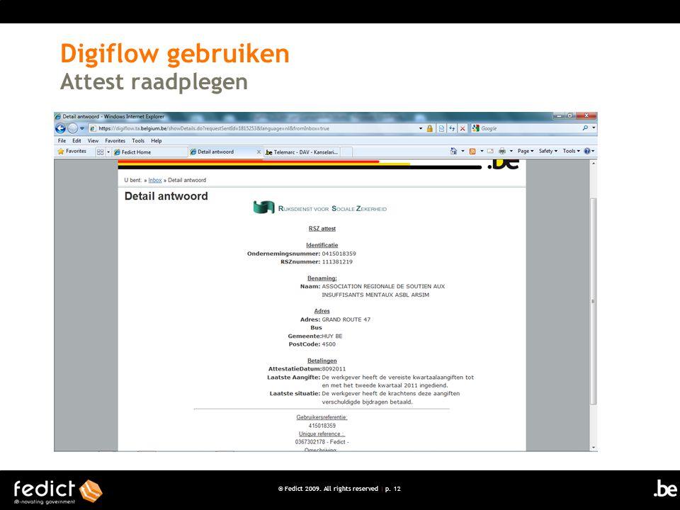 Digiflow gebruiken Attest raadplegen