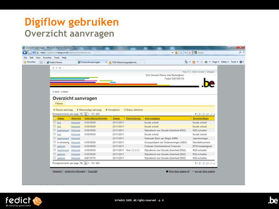 Digiflow gebruiken Overzicht aanvragen