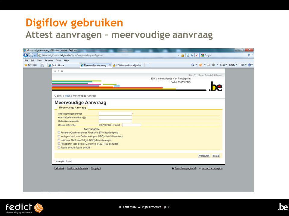 Digiflow gebruiken Attest aanvragen – meervoudige aanvraag