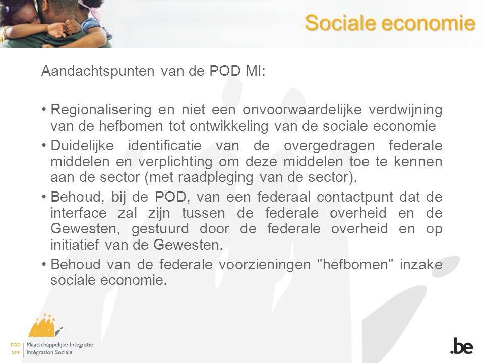 Sociale economie Aandachtspunten van de POD MI: