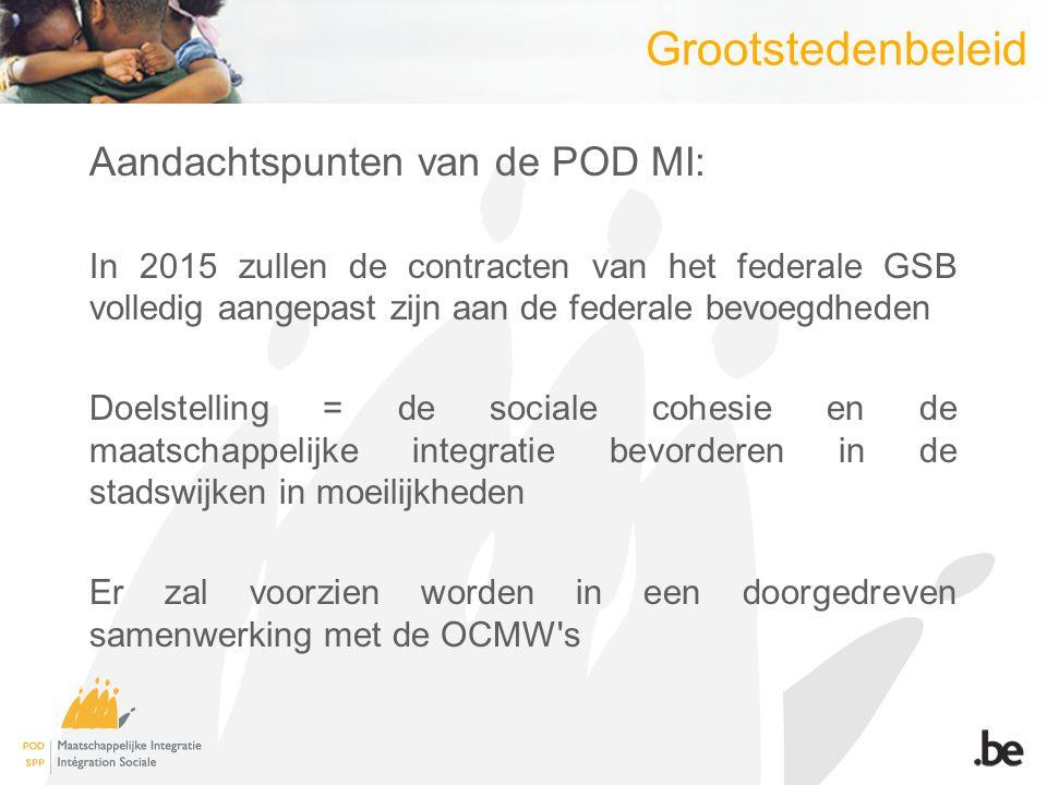 Grootstedenbeleid Aandachtspunten van de POD MI: