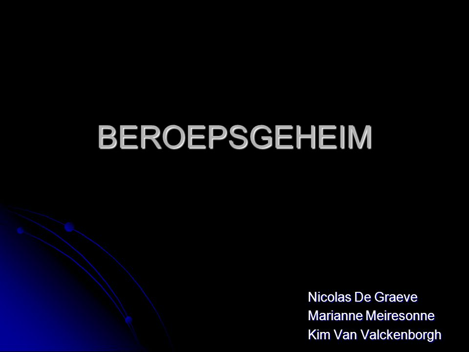 Nicolas De Graeve Marianne Meiresonne Kim Van Valckenborgh