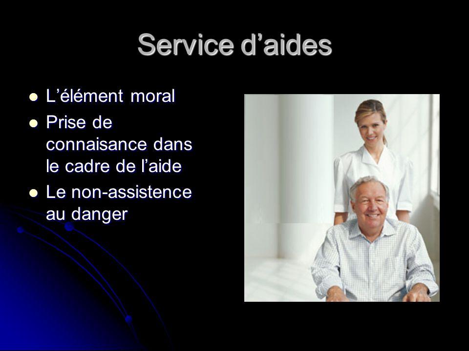 Service d'aides L'élément moral