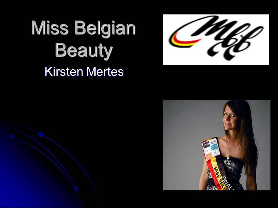 Miss Belgian Beauty Kirsten Mertes