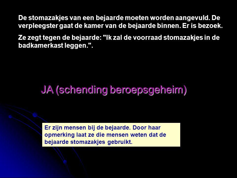 JA (schending beroepsgeheim)