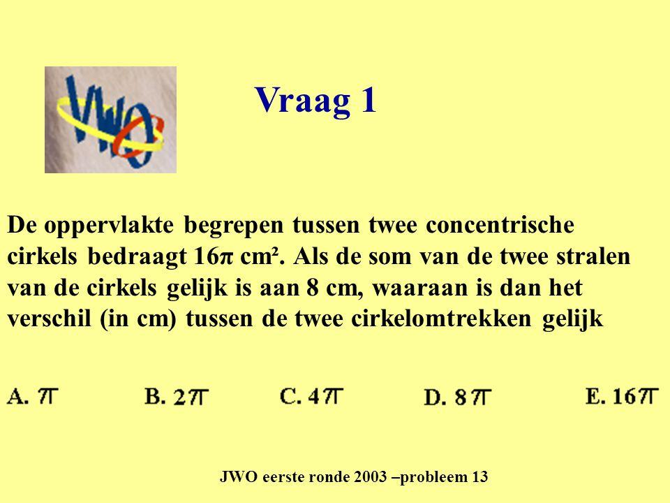 JWO eerste ronde 2003 –probleem 13