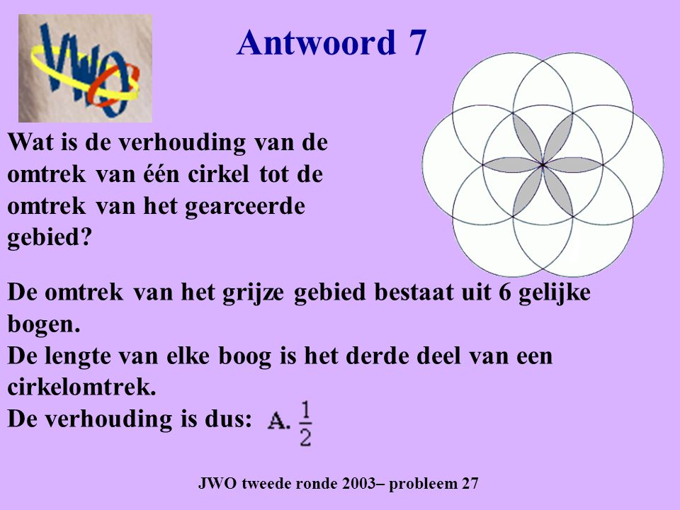 JWO tweede ronde 2003– probleem 27