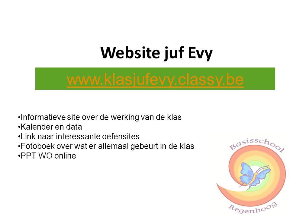 Website juf Evy www.klasjufevy.classy.be